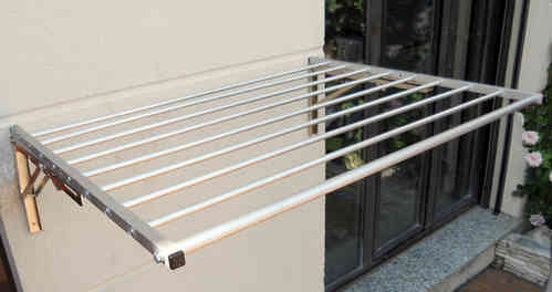 Tendedero supersagra 9 barras inox 1metro - Tendedero de pared extensible ...